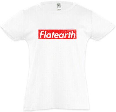 Mädchen T-Shirt Astronaut Society Erde Scheibe Fun Weltraum (Weiße Flats Mädchen)