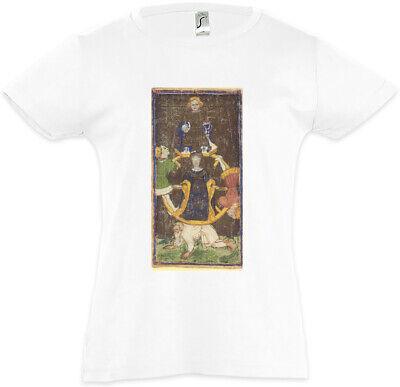 Tarot Arcanum Wheel of Fortune Kinder Mädchen T-Shirt Das Rad des Schicksals