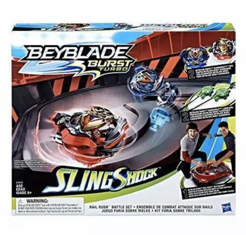 BEYBLADE Burst Turbo Slingshock Rail Rush Battle Set Stadium