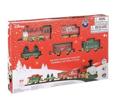 Lionel Disney Mickey Christmas Battery Powered Train Set Ready To Play New