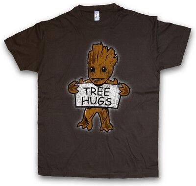 TREE HUGS T-SHIRT Guardians Fun Movie Comic Groot Baby Tree Root of the Galaxy