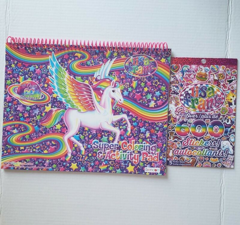 Lisa Frank Super Coloring & Activity Pad with 60+ Stickers AND 600 Stickers Pad