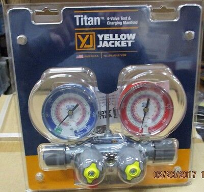 Yellow Jacket 49963 4V Titan Manifold R22/R404A/R410A, used for sale  Rosedale