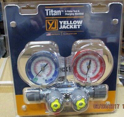 Yellow Jacket 49963 4v Titan Manifold R22r404ar410a