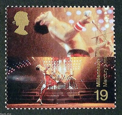 Freddie Mercury Queen illustrated on 1999 Stamp - Unmounted mint
