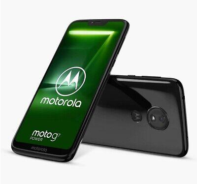 "Motorola g7 Power SIM Free Smartphone 6.2"" 4G LTE SIM Free 64GB Black C Grade"