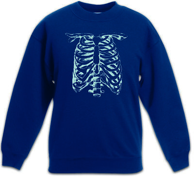 SKELETON II Kinder Pullover Bones Knochen Skelett Halloween Skull Fear The
