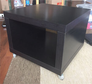 IKEA LACK Side Table on Casters, Black-brown*