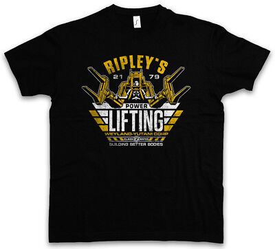 RIPLEY'S POWER LIFTING T-SHIRT Prometheus USCSS Nostromo Alien Yutani Logo Corp