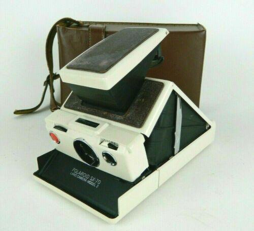 Vintage Polaroid SX-70 Model 2 Land Camera *Expired Film Tested & Working* Case