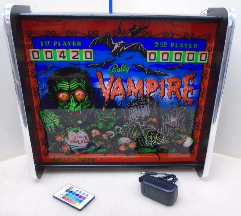 Bally Vampire Pinball Head LED Display light box