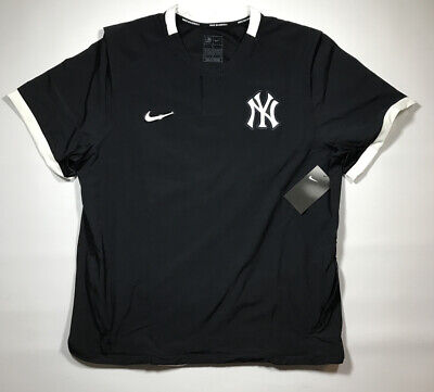 New York Yankees On Field Nike Short Sleeve Pullover Jacket Size Large NWT