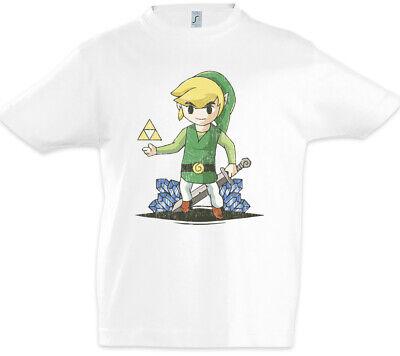 Link Diamonds Kinder Jungen T-Shirt Game Gamer PC Triforce Games Nerd Diamanten