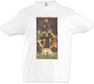 Tarot Arcanum Wheel of Fortune Kinder Jungen T-Shirt Das Rad des Schicksals