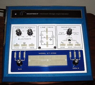 Heathkit ET-3100 BLUE electronic trainer test bed breadboard prototyper WARRANTY