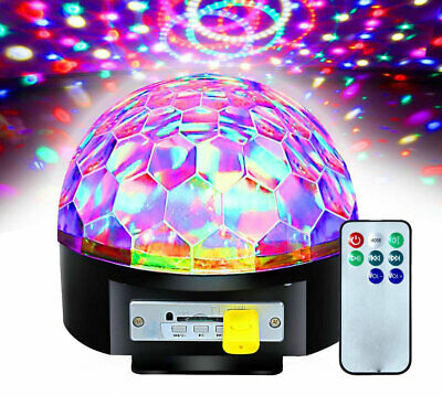 Large Mp3 Player USB Projector Disco Light Remote Control LED Party Lights DJ