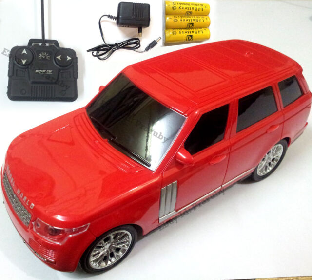 range rover style remote radio 4 channel control racing car toy rechargeable red ebay. Black Bedroom Furniture Sets. Home Design Ideas