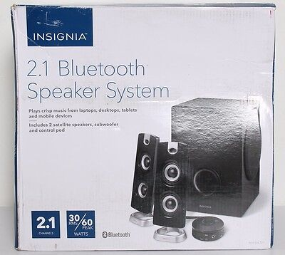 Insignia  2 1 Bluetooth Wired   Wireless Computer Speaker System Ns Psb4721 Used