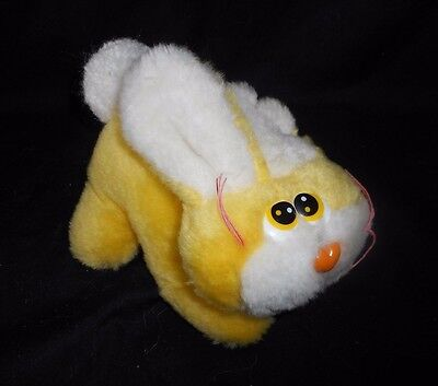 "7"" VINTAGE CUDDLE WIT YELLOW BABY BUNNY RABBIT STUFFED ANIMAL PLUSH TOY LOVEY"
