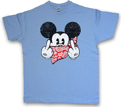 FU MOUSE T-SHIRT – Comic Gangster F*** You Mickey TV Fun Mobster