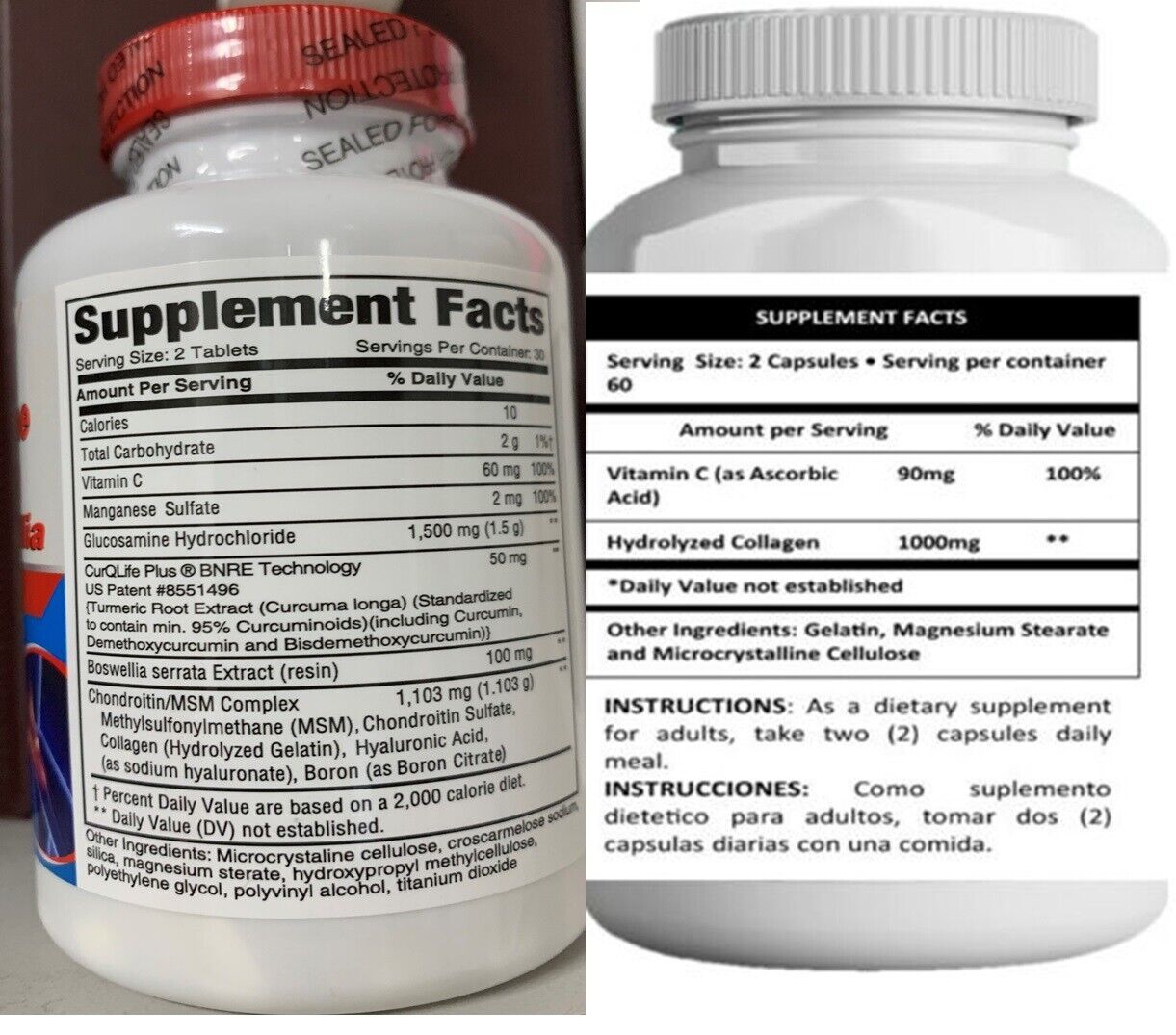 Colageno Glucosamina Y Condroitina  Acido Hialuronico Alivia Articulaciones HG 4