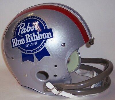 PBR PABST BLUE RIBBON RIDDELL FULL SIZE TK 2-BAR FOOTBALL HELMET - NEW IN BOX