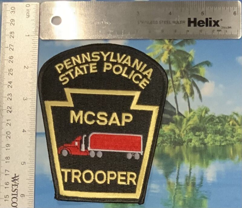2 Pennsylvania State Police MCSAP Trooper Patches