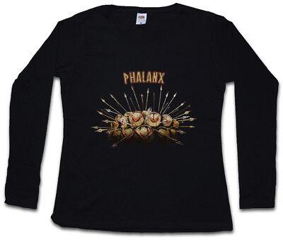 PHALANX DAMEN LANGARM T-SHIRT Hoplit Sparta Spartaner Schild - 300 Spartaner Speer