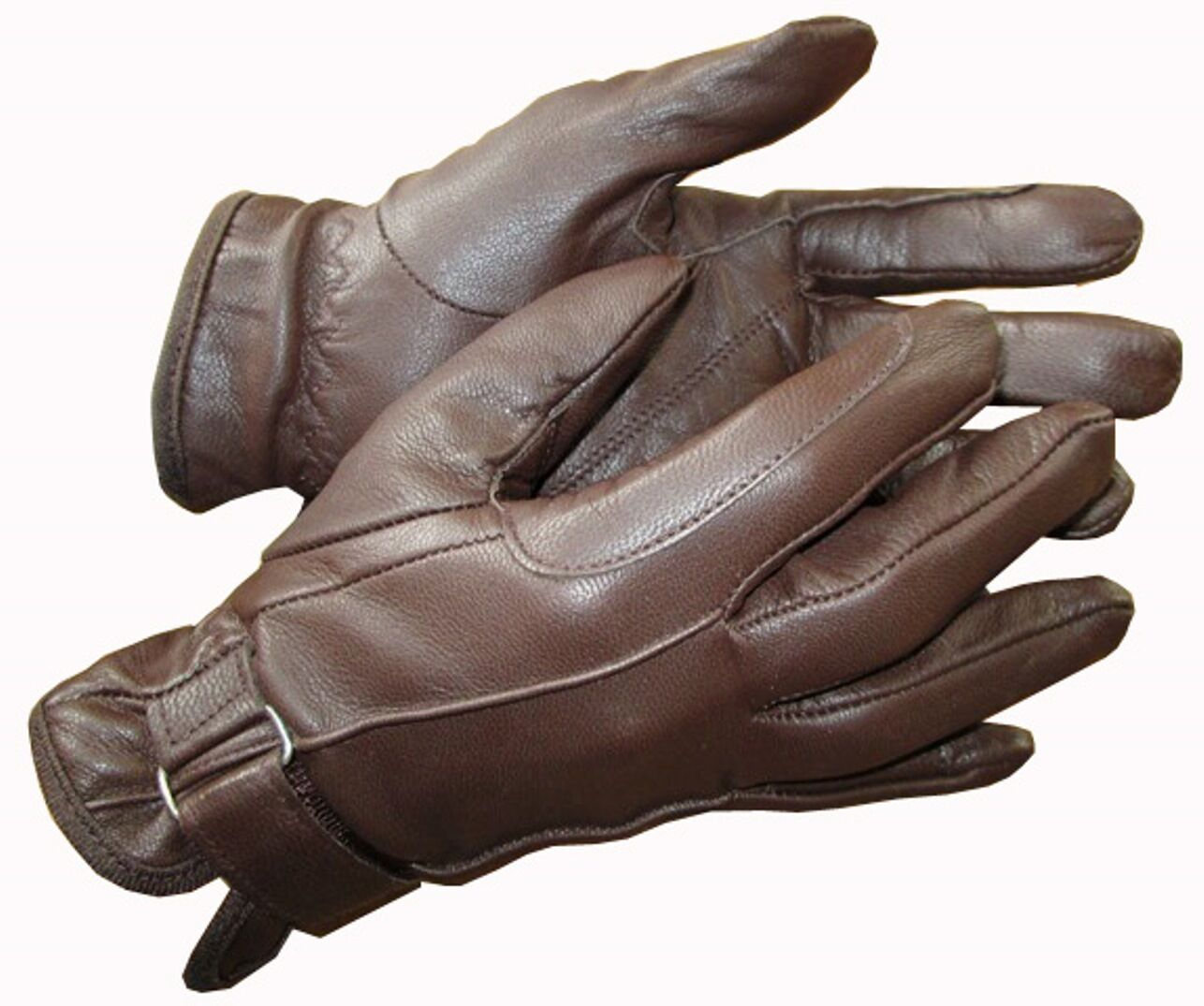 Ladies leather gloves xs - Ladies Black Or Brown Tan Leather Gloves Horse Riding Small Medium Large Xs