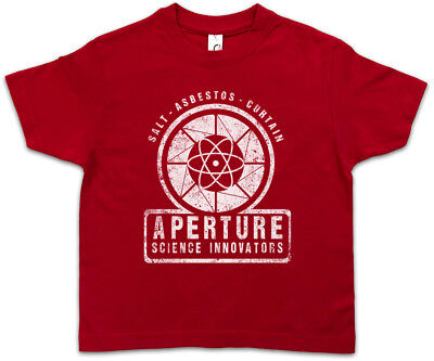 VINTAGE APERTURE SCIENCE INNOVATORS Kids Boys T-Shirt Laboratories Game Portal ()