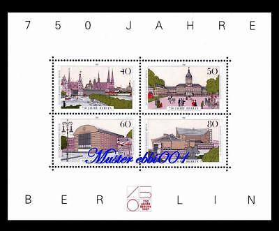BERLIN MI NR 772 775 BLOCK 8 750 JAHRE BERLIN 1987 POSTFRISCH