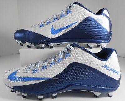 5d918b98e3c8 Nike Alpha Pro 2 Football Cleats Blue/White Size 13 NFL Low 729445-131