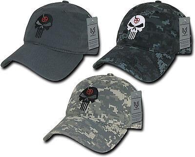 Gray Skull Cap (Punisher Skull Hat Camo Gray Military Navy Seal Special Forces Polo Baseball Cap )