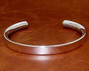 Men's/Gents Hevey Solid Silver Torque Bangle/Bracelet  Hand-Made by D. Locke