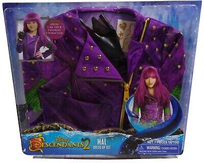 Disney Descendants 2 Mal Costume Dress Up Set Girls Sizes 4-6x