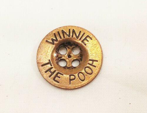 Vtg brass Winnie the pooh shirt coat jacket button