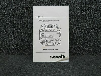 1999 Shadin Digital Fuel Management System and Airdata Computer Manual (C20)