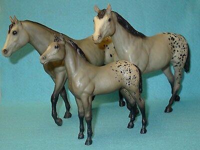 BREYER TRADITIONAL GREY BLANKET STOCK HORSE FAMILY SET OF 3 VGC 83 SEARS SR RARE