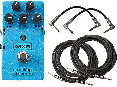 MXR by Dunlop M234 Analog Chorus Guitar Pedal with 4 Cables