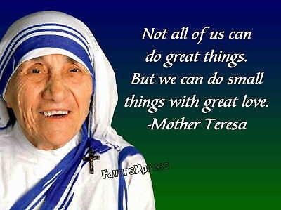 Catholic Art Print Saint Teresa of Calcutta Confirmation Saint Gift Mother Teresa