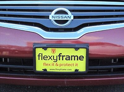 A NASA like Rubber License Plate Bracket Frame Holder Guard Bumper for NISSAN