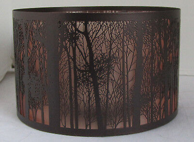 Yankee Candle Jar Shimmer Shade TWILIGHT FOREST SILHOUETTE Barrel Brown 1522605
