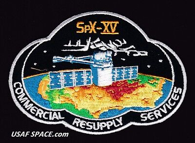 NEW SPX-15 - SPACEX CRS-15 NASA COMMERCIAL ISS RESUPPLY ORIGINAL AB Emblem PATCH