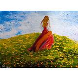 Natasha Petrosova   Original Oil Painting  Stretched Canvas Impressionism Girl