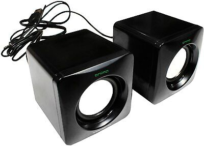 ALTAVOCES PARA ORDENADOR PC 8W USB TAMAÑO REDUCIDO