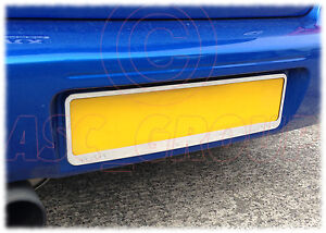 Twin-Pack-Pair-Chrome-Surround-Licence-Reg-Registration-Number-Plate-Holder