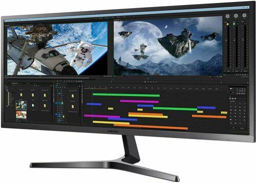"""🔥SAMSUNG 34"""" Class Flat 3,440 x 1,440 Ultra WQHD Monitor - LS34J552WQNXZA"""