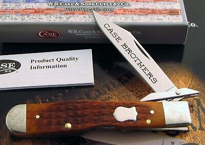 Case Cheetah Knife 2003 Case Bros Mint Set 6111 1/2 L Scrolled 1 of 250 AAA+ NR