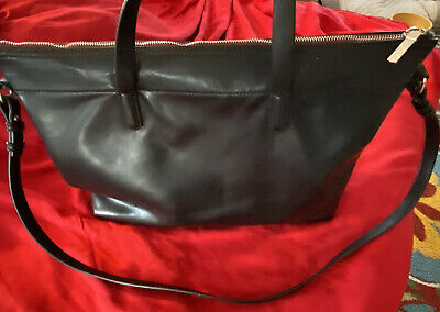 ZARA LARGE TOTE BAG - Black Vegan Leather