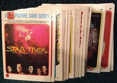 STAR TREK TOPPS 1979 TRADING CARDS....  RAINBO BREAD TRADING CARDS FULL SET!!!..